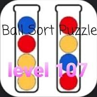 Ball Sort Puzzle(ボールソートパズル)攻略「レベル107」の問題と答えまとめ