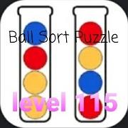 Ball Sort Puzzle(ボールソートパズル)攻略「レベル115」の問題と答えまとめ