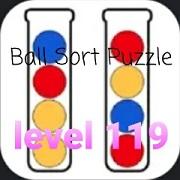 Ball Sort Puzzle(ボールソートパズル)攻略「レベル119」の問題と答えまとめ